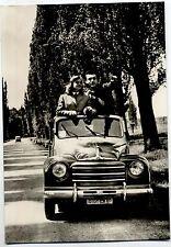 Girl & Car Bellezze e Motori Coppia con Fiat Topolino PC Circa 1950 Vera Foto 2