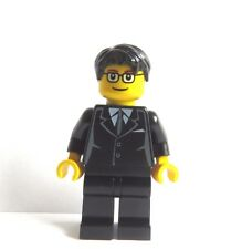 LEGO Groom Minifigure Black Suit Glasses Black Hair  Cake Topper Wedding