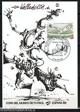 1982//**FDC.CP 1°JOUR**COUPE DU MONDE-FOOTBALL-VALLADOLIA.1982**TIMBRE Y/T 2209