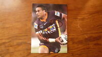 JUSTIN HODGES HAND SIGNED BRISBANE BRONCOS 7x5 INCH ACTION PHOTO