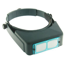 Genuine #10 OptiVISOR 3.5x Optical Glass Magnifier Binocular Adjustable Headband