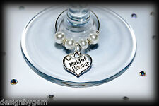 Wedding wine glass charms top table wine glass charms for Favour and table decs