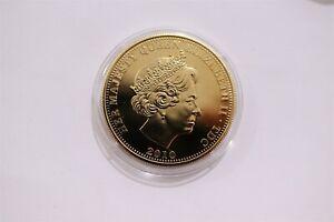 TRISTAN DA CUNHA CROWN 2010 GOLD PLATED B29 CP10