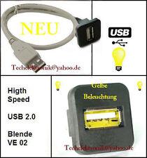 USB Einbaubuchse BELEUCHTUNG 50cm passend für Avensis Yaris Superb Leon Ibiza UP
