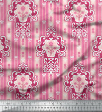 Soimoi Fabric Abstract Damask Print Fabric by the Meter-DK-4G