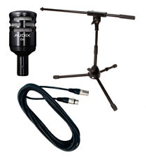 Audix D6 Dynamic Kick Drum Microphone Stand XLR Cable Bundle