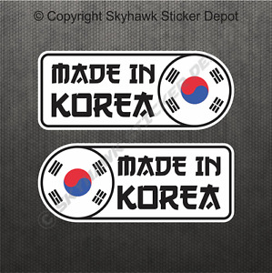 Made In Korea Car Sticker Set Vinyl Decal Flag Sticker For Hyundai Genesis, Kia
