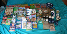 New York Yankees 40+ Diff Items w/Books Tins Bear Clock Balls Bank Cups Glass NR