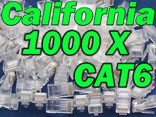 1000 X pcs RJ45 Plug Cat6 Modular LAN Network Connector Internet Ethernet Cable