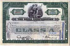 The Brill Corporation Stock Certificate Green