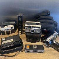 Vintage Camera Bundle Untested Plus Hd Camera (kodak Instamatic 204 , 25, Nova )