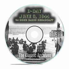 D-Day Landing WW2, June 6, 1944 Old Time Radio CBS Broadcast OTR MP3 CD E89