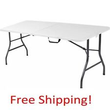folding table 6 foot tea party tables outdoor plastic white weather resistant - 6 Foot Folding Table