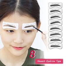 32Pars Etiquetas Tarjetas de cejas dibujo plantilla De ceja Maquillaje