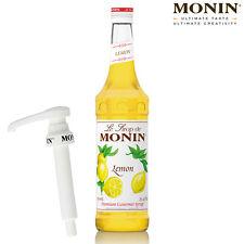 MONIN Coffee Syrup - 70cl Glass LEMON Syrup & Pump Set - USED BY COSTA COFFEE