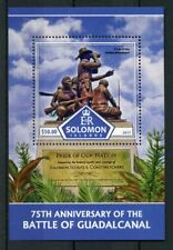 Solomon Islands 2017 MNH WWII WW2 Battle of Guadalcanal 1v S/S Military Stamps