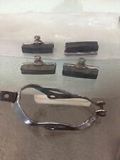 4 Pcs BRAKE PAD Rubber For Vintage Bicycle Raleigh Rudge NOS 1950s + bike bicycl