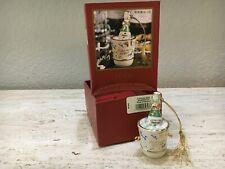 "Lenox Millennium Edition Ornament Celebrate 2000 Ice Bucket & Champagne 4""H"