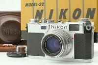 [N MINT] Nikon S2 Rangefinder Film Camera w/NIKKOR-H C 50mm f/2.0 from JAPAN 811