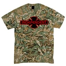 Independent Trucks Ogbc Logo Skateboard Shirt Camo w/Black/Red Logo Xxl