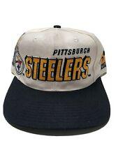 Vintage 1990s Pittsburgh Steelers NFL Pro Line Snapback Hat Sports Specialties
