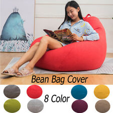 US Large Outdoor Comfy Bean Bag Chair Lazy Lounger Bean Bag Sofa Cover for Adult