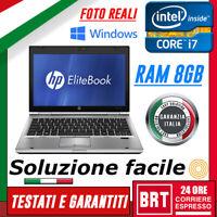 """PC NOTEBOOK PORTATILE HP ELITEBOOK 2560P 12"""" CPU i7 8GB RAM +KEY WIN 10 PRO"""