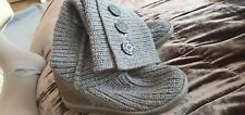 ugg grey knited boots size uk 3.5
