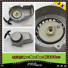 2 X Alloy Pull Start/Starter 2 Stroke 43 47 49cc Dirt Mini/Pocket/ATV/Quad Bike