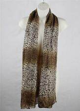 Chiffon Animal Print Cheetah Wrap Shawl Light Scarf KP-26 D64