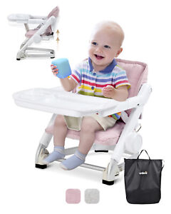 Unilove Feed Me Pack & Go Feeding Booster Seat, Plum Pink