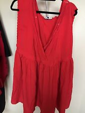 ASOS Curve Plus Size Red Boutique Dress Size 18 NWT And It Has Pockets Great