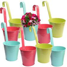 9 x Hängetopf Blumentopf Zink Topf Blumen Kräutertopf Metall Übertopf Hängetöpfe