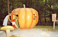 PA Story Book Forest AMUSEMENT PARK Pumpkin 1959-64 Roadside postcard AM1