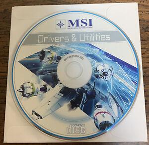 MSI DRIVERS & UTILITIES COMPACT DISC G71-MI31009-X03