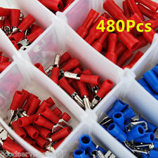 480Pcs Female&Male Spade Insulated Connectors Crimp Electrical Wire Terminal