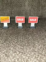MALL MADNESS 1996 REPLACEMENT GAME PIECES SALE & CLEARANCE SIGNS