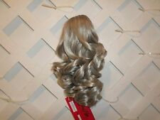 """Longer 14"""" Curly Ponytail  Clip In Hair Piece NWT Color 56 Soft Grey"""