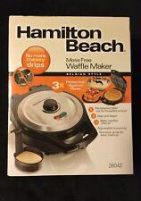 HAMILTON BEACH Mess Free Waffle Maker model 26042