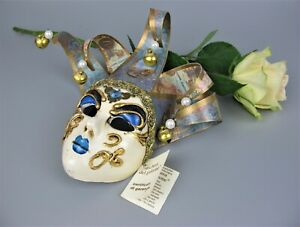 Superb genuine vintage Venetian Wall Carnival Mask. Maschera del galione. Italy