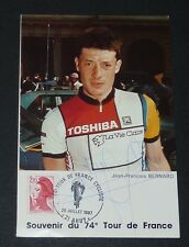 CPA 1987 CYCLISME TOUR FRANCE 21 AHUY JEAN-FRANCOIS BERNARD VIE CLAIRE DEDICACE