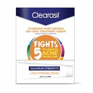 Clearasil Stubborn Acne Control 5in1 Concealing Treatment Cream 1oz (Pack of 12)