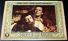 fotobusta originale STELLA DELL'INDIA Cornel Wilde Jean Wallace 1954 #5