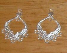 30-Silver Chandlier Drops-FREE-30 silver hooks-                         (2B9)