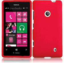 For Nokia Lumia 521 Rubberized HARD Case Snap On Phone Cover Accessory Red