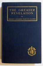 Antique 1925 THE GREATER REVELATION Occult Spiritualism SPIRIT WRITING Book