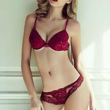 Super Sexy Wine Red Lace Push Up Bra Set - Lingerie Set - Ladies Underwear
