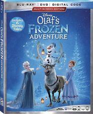 DISNEY OLAF'S FROZEN ADVENTURE(BLU-RAY+DVD+DIGITAL CODE)W/SLIPCOVER NEW