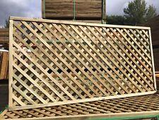 6x3 Elite Highgrove Lattice Diamond Trellis 180x90cm Garden Wood Fence Topper