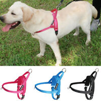 No Pull Front Leading Dog Harness Reflective Soft Plush Padded Vest Quick Fit L